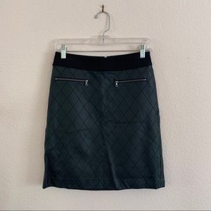 Faux Leather Quilted Mini Skirt